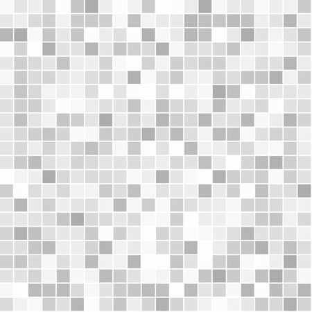 mosaic tiles: Mosaic abstract square seamless pattern in grey colors Illustration