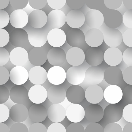 Abstract flat seamless background with grey paper circles Illustration