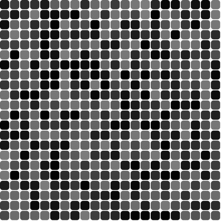 Mosaic abstract square seamless pattern in black Illustration