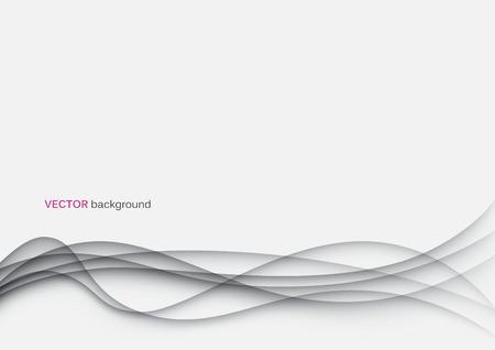 curvas: Modelo abstracto olas papercut fondo en blanco