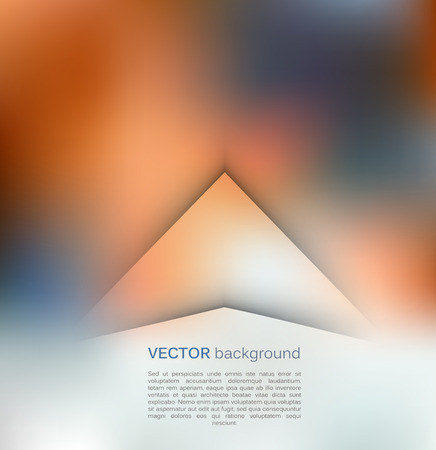 papercut: Abstract blue and orange papercut triangles background template