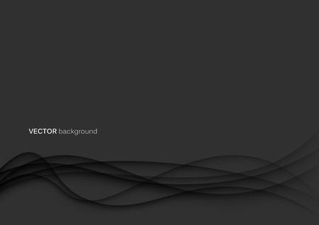 Abstracte papercut golven achtergrond sjabloon in zwart