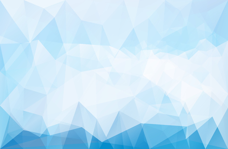 Abstract vector triangle ice background in blue