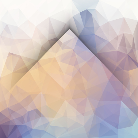 Abstract vector triangle background with mountain silhouette