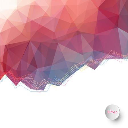 Abstract vector triangle ice background in red Illustration