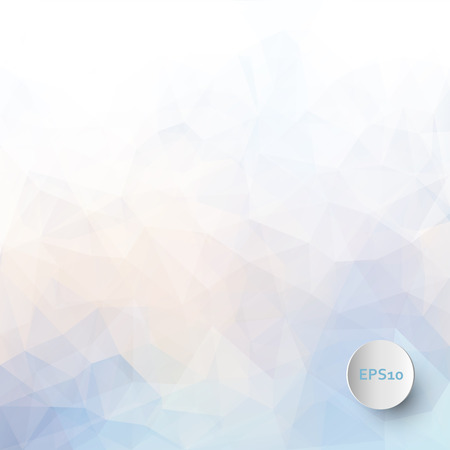 Abstract vector triangle ice background in pastel colors