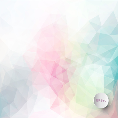 puzzle background: Abstract vector triangle ice background in pastel colors