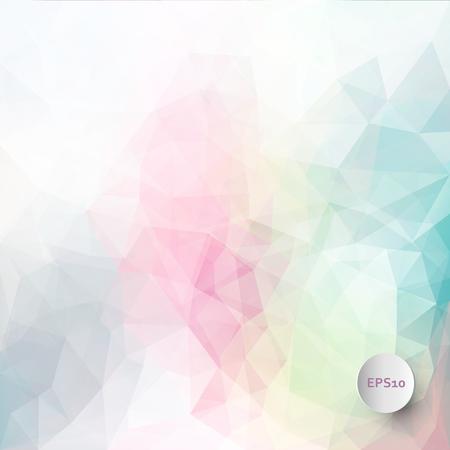 colores pastel: Resumen de fondo triangulo vector de hielo en colores pastel Vectores