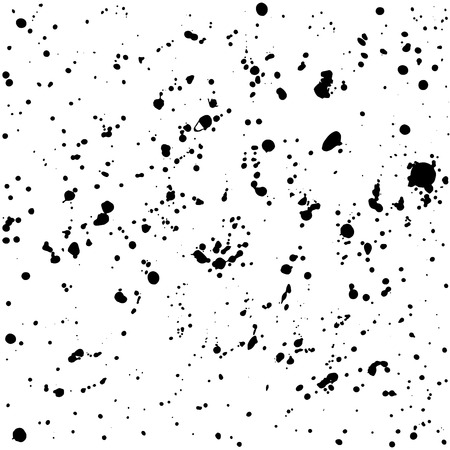 grained: Grunge ink splash dots grained texture on white