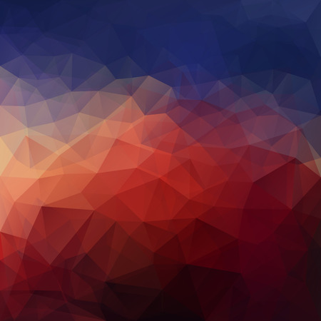 Abstract vector triangle ice background in dark colors