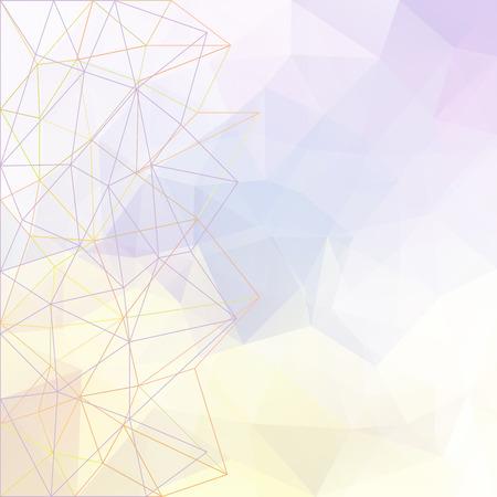 Abstract vector driehoek ijs achtergrond in lichte kleuren