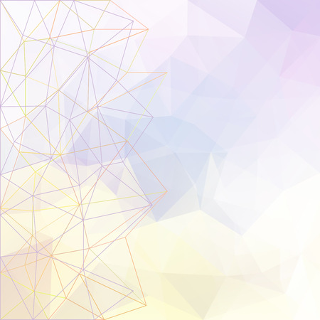 Abstract vector triangle ice background in light colors
