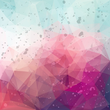 Abstract vector triangle colorful background with splashes Illustration