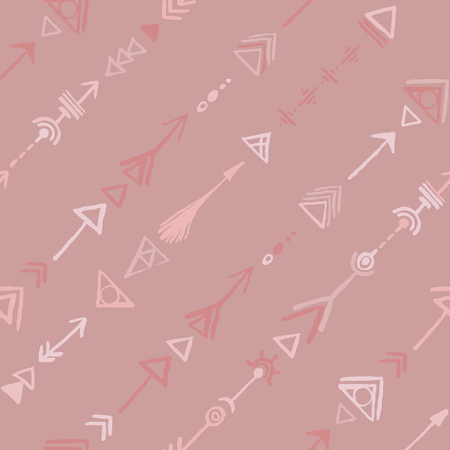 ethnical: Seamless tribal vintage ethnic design pattern in pink