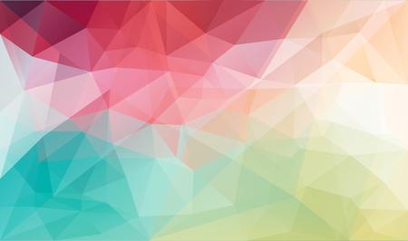 Abstract vector driehoek achtergrond in heldere kleuren Stock Illustratie
