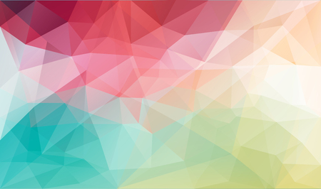 Abstract vector triangle background in bright colors