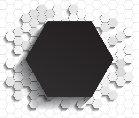 display problem: Black flat style hexagon icon on gray background