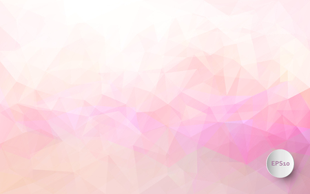 Abstract vector triangle background in pastel colors Vector Illustration