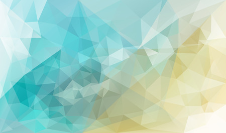 splinter: Abstract vector triangle background in blue and yellow