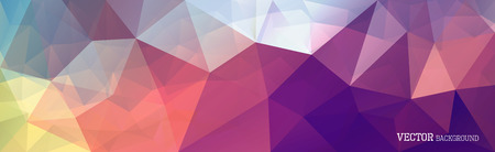 Abstract vector triangle horizontal background in bright colors