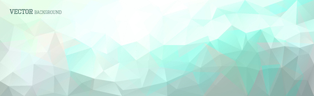 modern abstract design: Abstract vector triangle horizontal background in blue and green Illustration