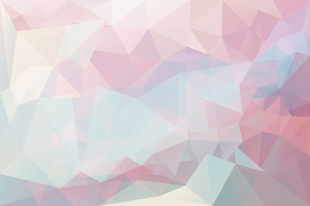 Vector triangle mosaic background with transparencies in pastel colors Stock Illustratie