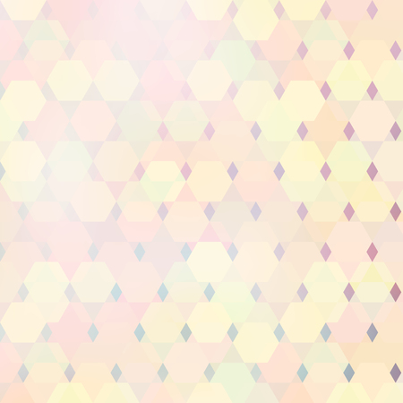 Vector geometric bright lit pattern with polygonal elements and blur on the background