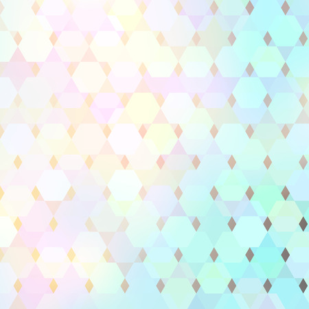 Vector geometric bright lit pattern with polygonal elements and transparency Illustration