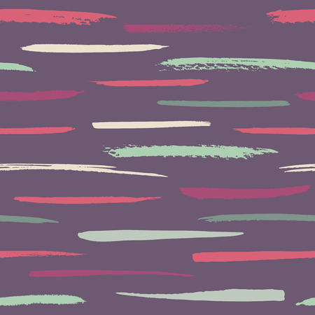 Vector seamless thin brushstrokes pattern in bright colors Illustration