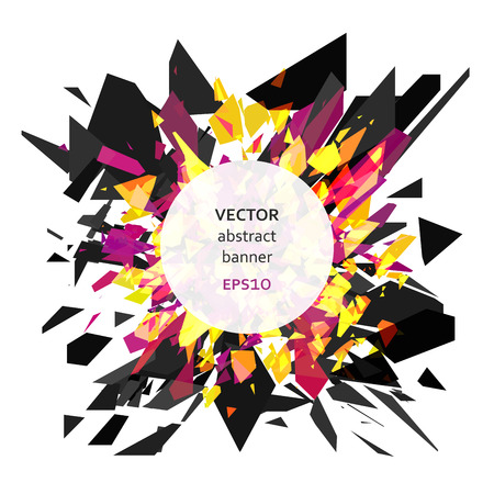 shatter: Abstract vector explosion of colorful particles background