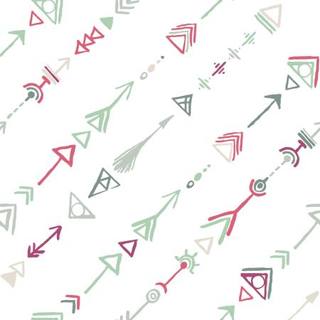 Naadloze tribal vintage etnische diagonaal patroon in grijs en paars Stock Illustratie
