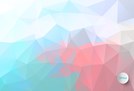 Vector triangle mosaic background with transparencies in blue and pink Ilustração Vetorial