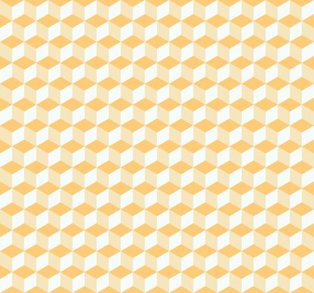 Vector naadloos abstract isometrisch kubussenpatroon in lichtgeel