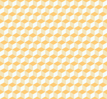 Vector seamless abstract isometric cubes pattern in light yellow Illustration