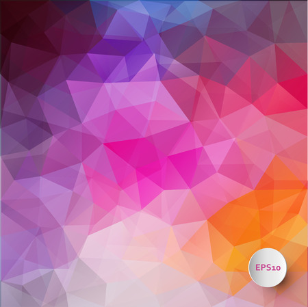 Abstract triangle background in bright colors