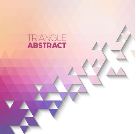 splinter: triangle colorful background with copyspace, abstract geometric background Illustration