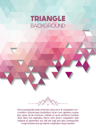 splinter: Vector triangle colorful background with copyspace, abstract geometric background