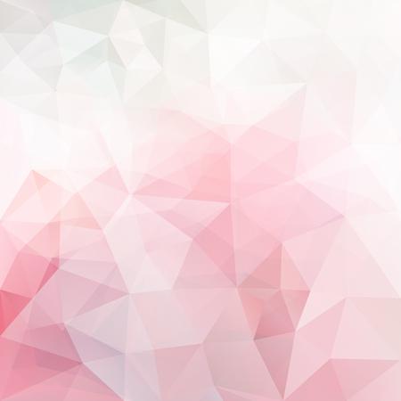 forme geometrique: Abstrait, vecteur, triangle, fond, doux, rose, couleurs, polygonal, modèle
