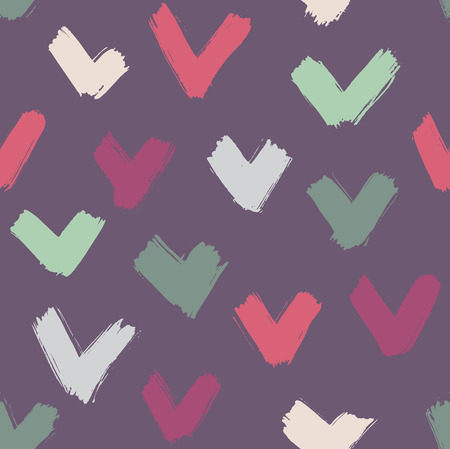 thick: Vector seamless thick brushstrokes pattern, modern grunge in grey and blue colors, hipster background Illustration