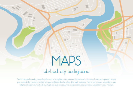 megapolis: Vector flat abstract city map background with sample text Illustration