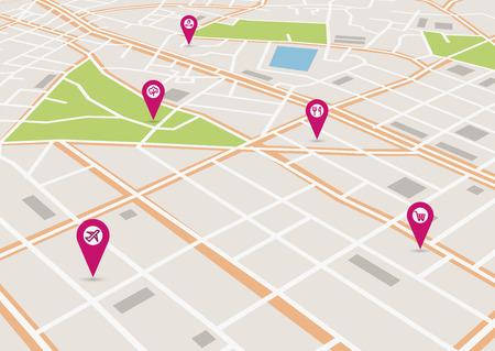 Carte de ville de vecteur artistique. Banque d'images - 74234801