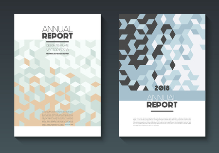 Vector annual report templates