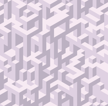 Seamless isometric pattern. Illustration