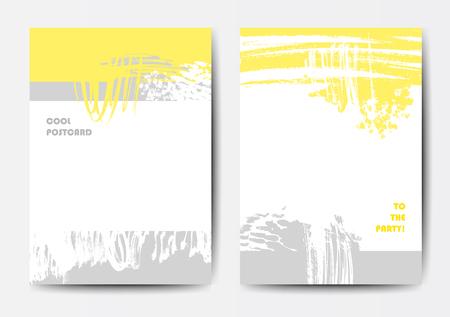Set of vector postcards Illustration