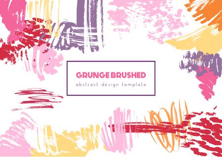 Grunge brush header