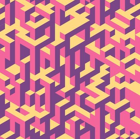 Seamless isometric pattern