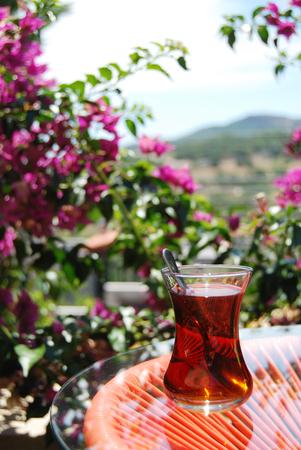 Turkish tea closeup