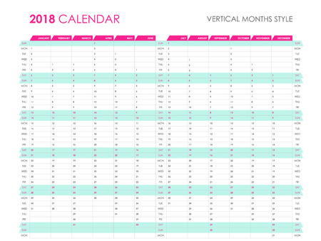 Business planner 2018 Illustration