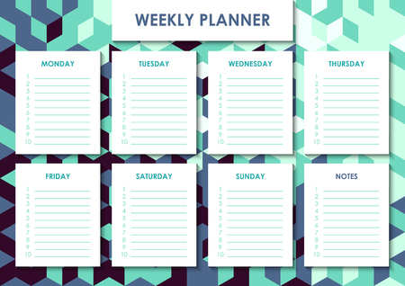 Weekly planner design Stock Photo