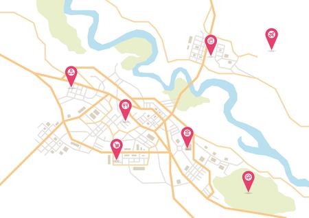 Mappa della città vettoriale